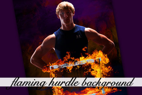Flaming Hurdle Background
