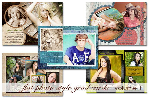 Flat Photo Paper Style Grad Cards Volume 1