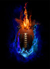 Layered Football Fire Background