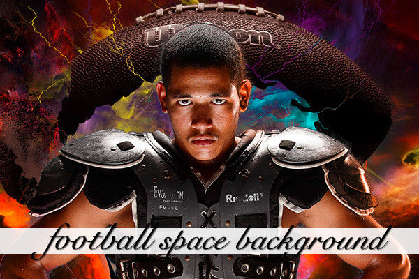 Layered Football Space Background