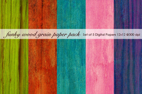 Funky Wood Grain Paper Pack