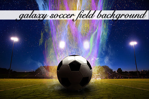 Galaxy Soccer Field Layered Background