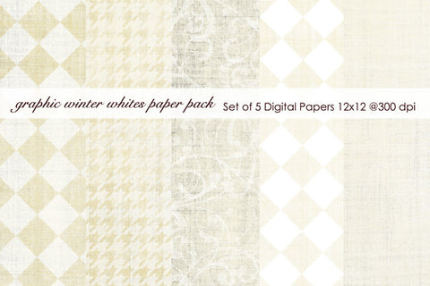 Graphic Winter Whites Paper Pack