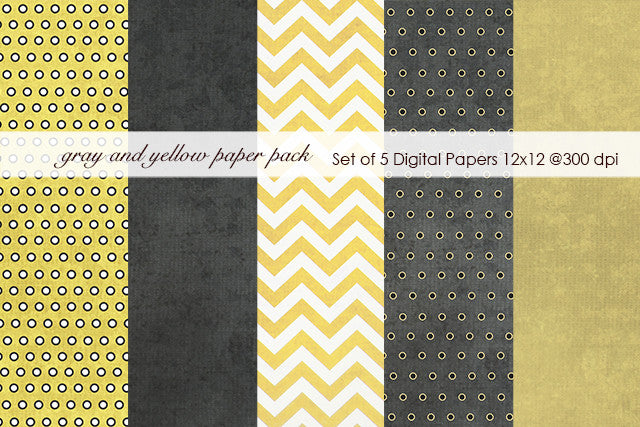 Gray and Yellow Paper Pack
