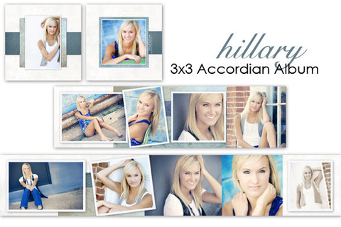 Hillary Accordian Album 3x3