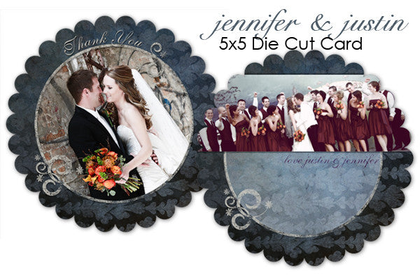 Jennifer and Justin Wedding Thank You Card