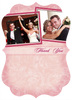 Pink and Fuschia Wedding Thank You Card