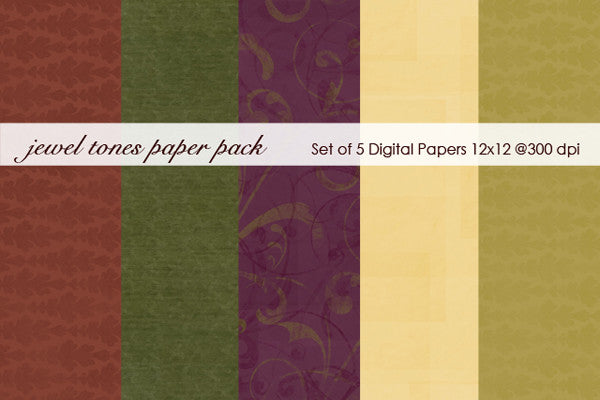 Jewell Tones Paper Pack