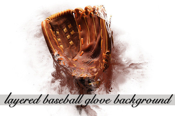 Layered Baseball Glove Background