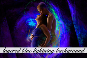 Layered Blue Lightning Background