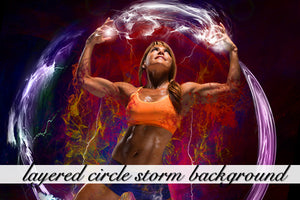 Layered Circle Storm Background