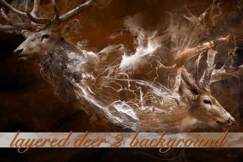 Layered Deer Background 2