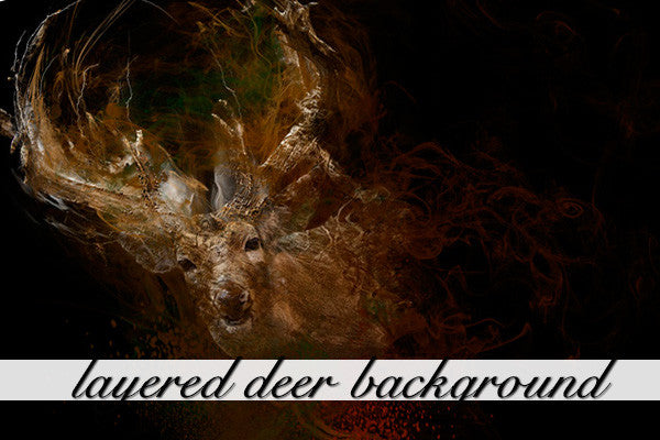 Layered Deer Background