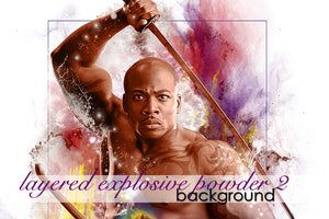 Layered Explosive Powder Background 2