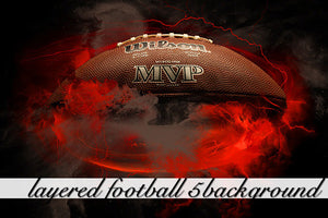 Layered Football 5 Background
