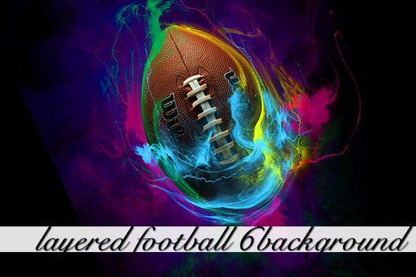 Layered Football 6 Background