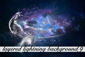 Layered Lightning Textured Background 9