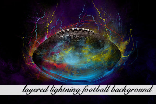 Layered Lightning Football Background