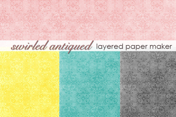 Swirled Antiqued Layered Paper Maker