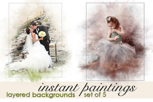 Instant Paintings: Photoshop Backgrounds