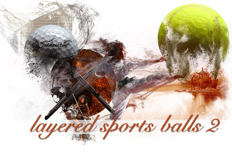 Layered Sports Ball Backgrounds 2
