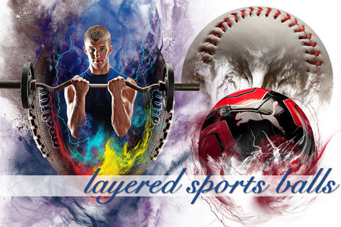 Layered Sports Ball Backgrounds Volume 1