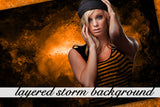 Layered Storm Background