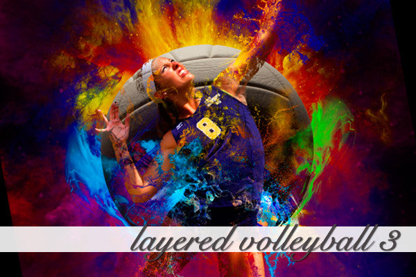 Layered Volleyball Background 3