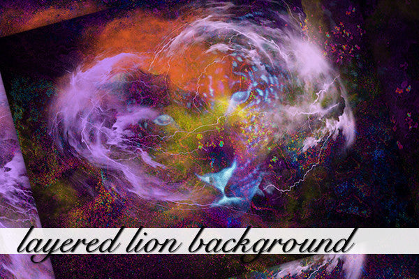 Layered Lion Background