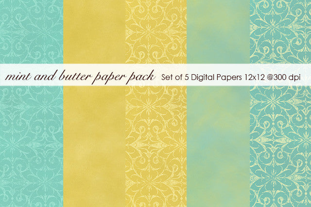Mint and Butter Paper Pack