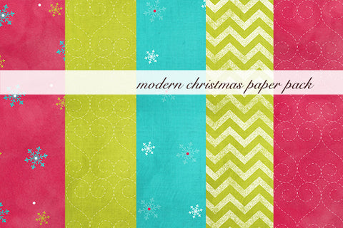 Modern Christmas Paper Pack