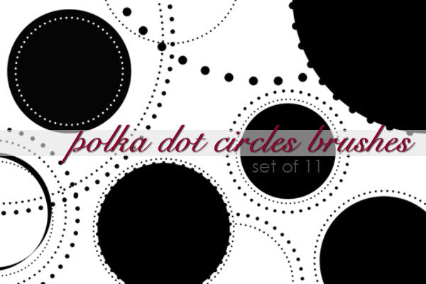 Polka Dot Circle Brushes