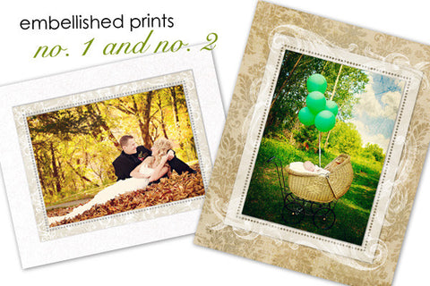 Embellished Prints 1 and 2