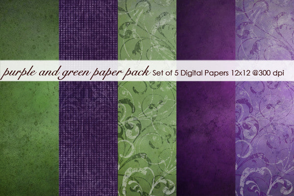Purple and Green Paper Pack