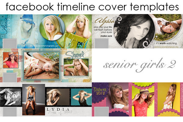 Facebook Timeline Cover Templates Senior Girls Volume 2