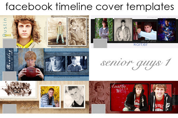 Facebook Timeline Cover Templates Senior Guys Volume 1