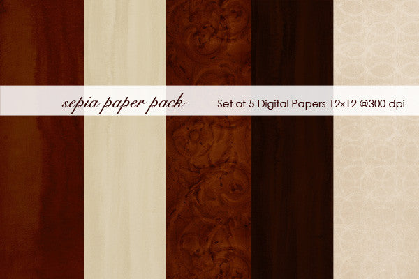 Sepia Paper Pack