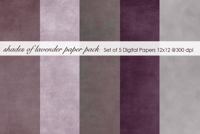 Shades of Lavender Paper Pack