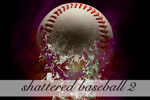 Layered Shattered Baseball 2 Background