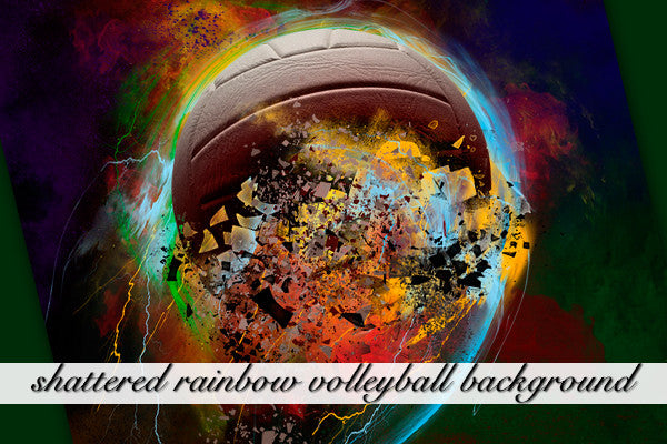 Shattered Rainbow Volleyball Background