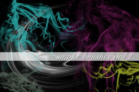 Smoke Volume 1 Photoshop Brushes