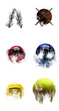 Layered Sports Balls Complete Kit