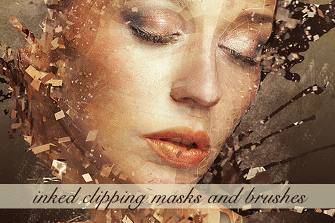 Inked Clipping Masks and Brushes