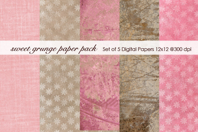 Sweet Grunge Paper Pack