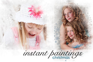 Instant Paintings Christmas Photoshop Backgrounds