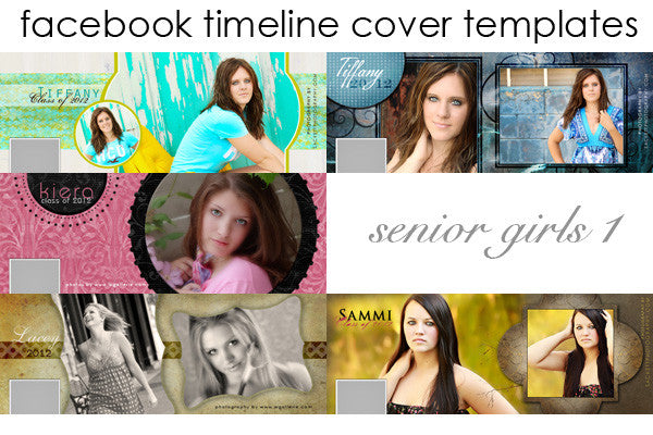 Facebook Timeline Cover Templates Senior Girls Volume 1