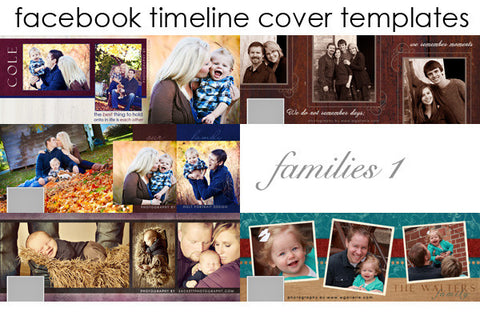 Facebook Timeline Cover Templates Families Volume 1