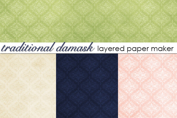 Traditional Damask Layered Paper Maker