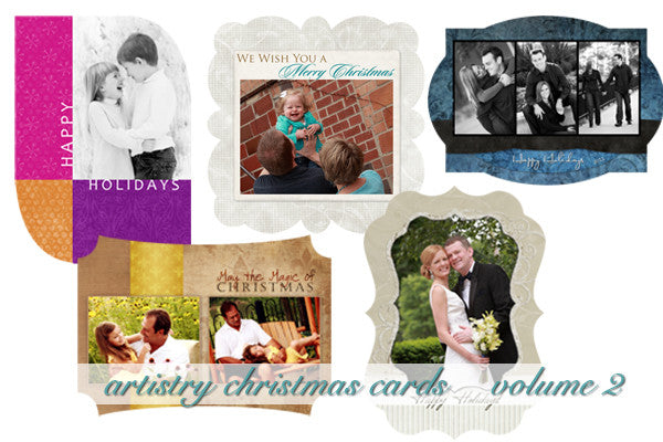 Artistry Christmas Card Templates Volume 2