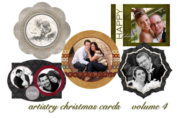 Artistry Christmas Card Templates Volume 4
